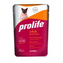 Prolife Adult Cat con Manzo e Riso Umido