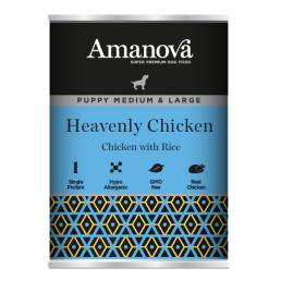 Amanova Puppy Medium/Large con Pollo e Riso per Cuccioli