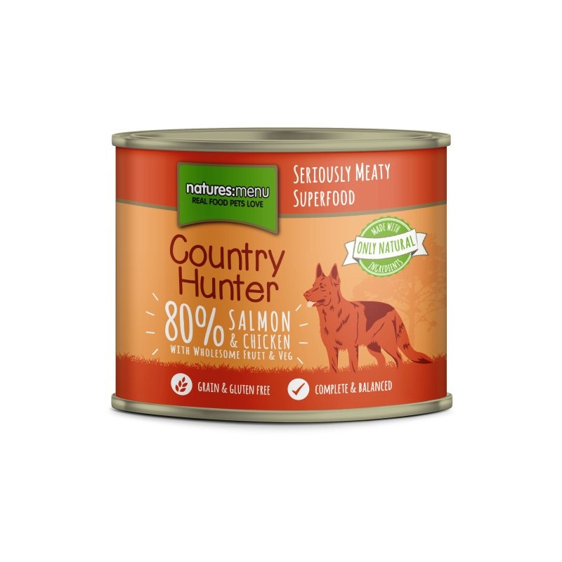 Natures Menu Country Hunter Salmone con Pollo Cibo Umido per Cani