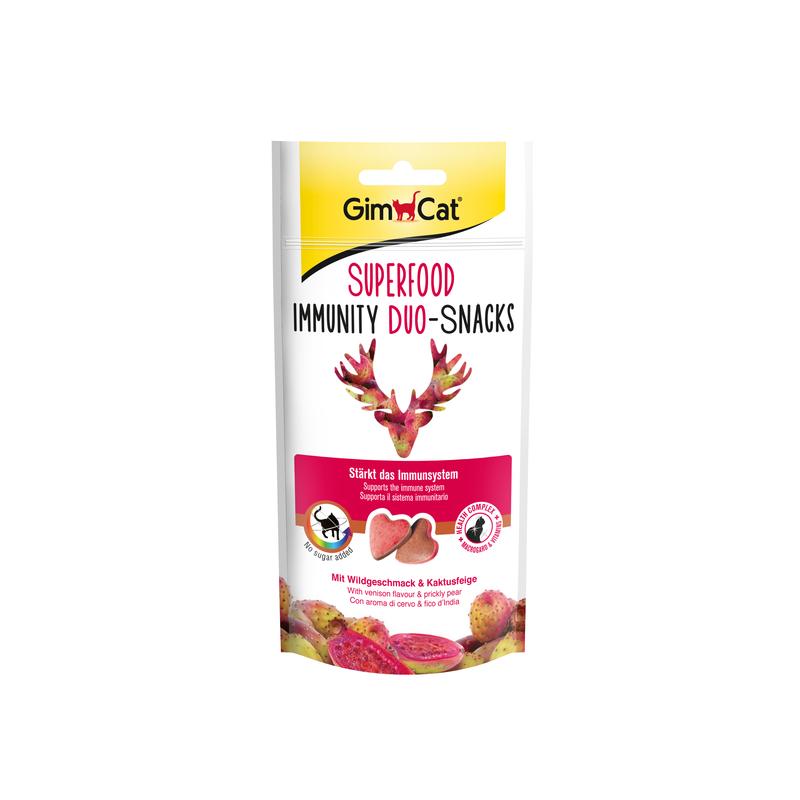 GimCat Superfood Immunity Duo Snacks Cervo e Fico d'India per Gatti