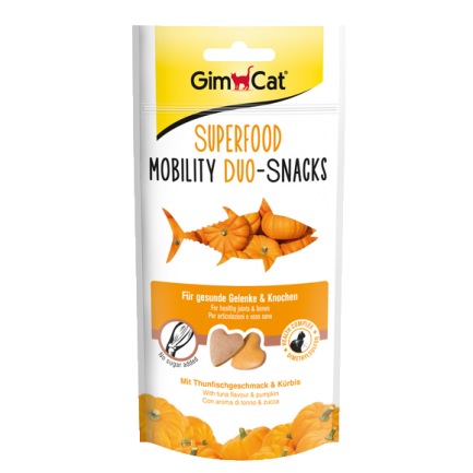 GimCat Superfood Mobility Duo Snacks Tonno e Zucca per Gatti