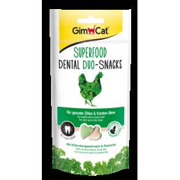 GimCat Superfood Dental Duo Snacks Pollo e Prezzemolo per Gatti