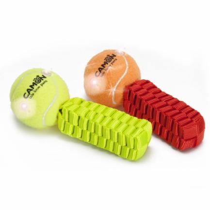 Palla da Tennis Luminosa con Maniglia per Cani