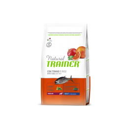 Natural Trainer Adult Medium con Tonno e Riso per Cani