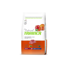 Natural Trainer Adult Medium con Manzo, Riso e Ginseng per Cani