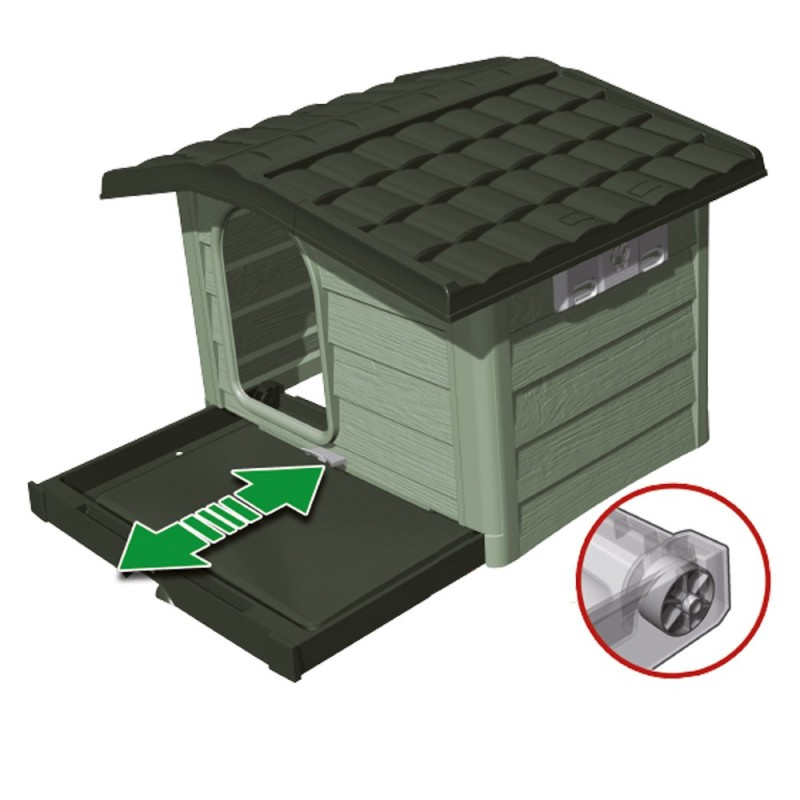 Cuccia bungalow da esterno per cani qualit made in italy for Cucce per cani in offerta