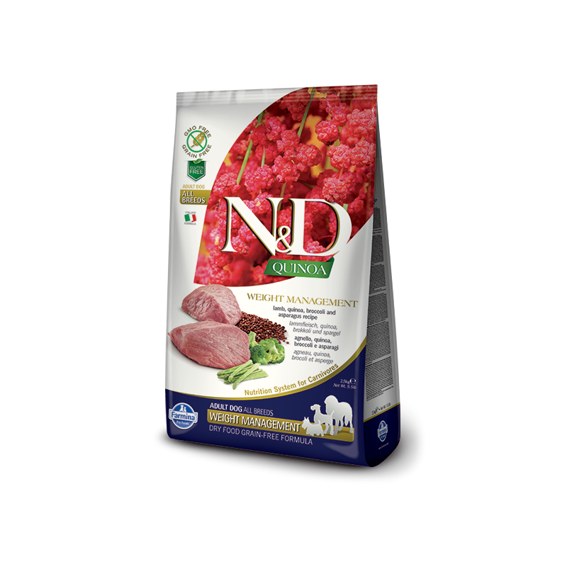 Farmina N&D Weight Managment con Agnello e Quinoa per Cani