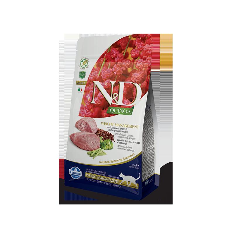 Farmina N&D Weight Management con Agnello e Quinoa per Gatti