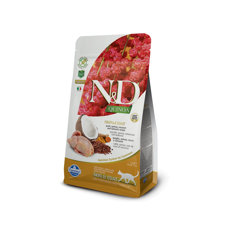Farmina N&D Skin Coat Adult con Quaglia e Quinoa per Gatti