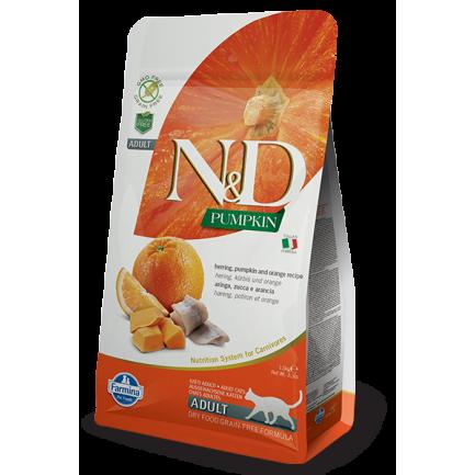 Farmina N&D Pumpkin Aringa, Zucca ed Arancia per Gatti