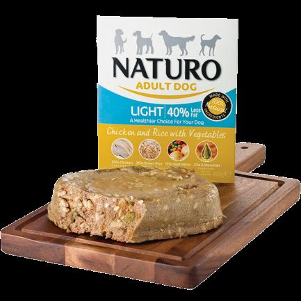 Naturo Extra Light con Pollo e Riso per Cani