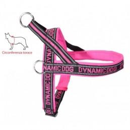 Dynamic Dog Pettorina per Cani Fuxia