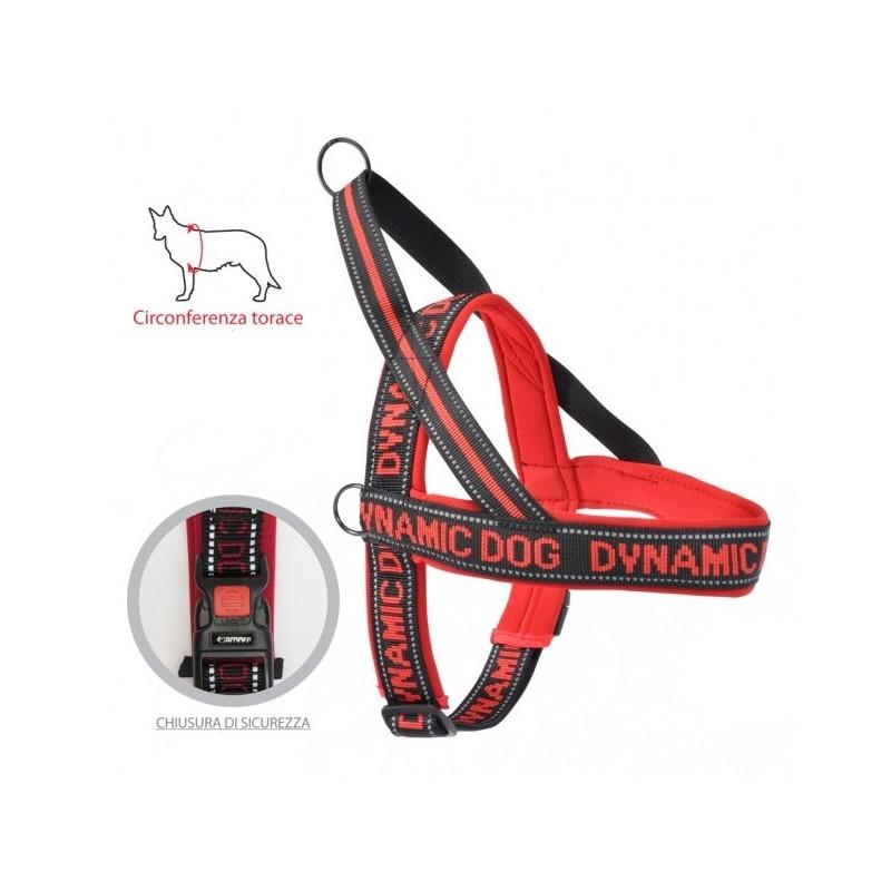Dynamic Dog Pettorina per Cani Rosso