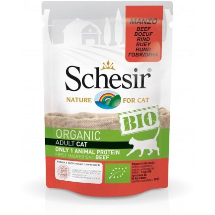 Schesir Cat Bio Organic Con Manzo Cibo Umido Per Gatti Adulti Paco