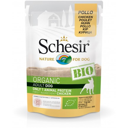 Schesir Dog BIO Organic con Pollo Cibo Umido per Cani