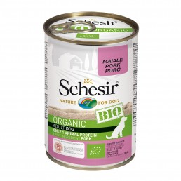 Schesir Dog BIO Organic con Maiale Umido in Lattina per Cani