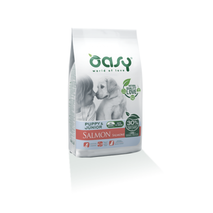 Oasy Puppy & Junior Salmone per Cani