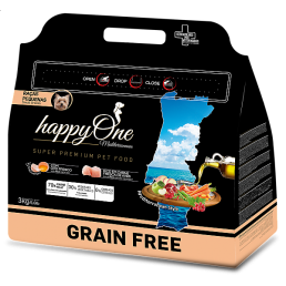 HappyOne Mediterraneum GRAIN FREE Adult Small per Cani di Taglia Piccola
