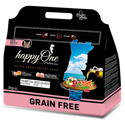 HappyOne Mediterraneum GRAIN FREE Adult per Gatti