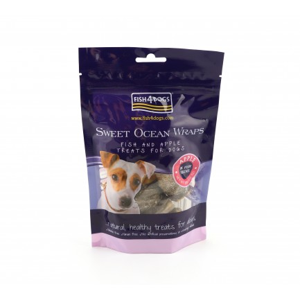 Fish4Dogs Sweet Ocean Wraps con Mela Snack per Cani