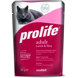 Prolife Adult Cat con Agnello e Riso Umido