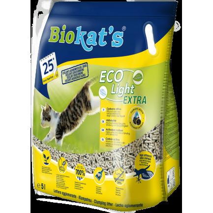 Biokats Eco Light Extra Lettiera Vegetale Agglomerante Per Gatti