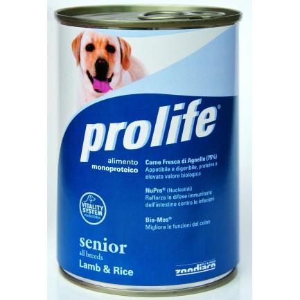 Prolife Senior Agnello e Riso Umido per Cani