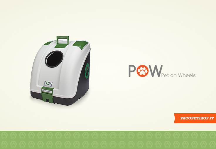 Pet On Wheels Pow | Trasportini per moto e bici per cani